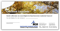 """Gutschein Mitgliedschaft Motiv 3 """"Baumkronen"""""""