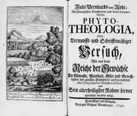 Titelkupfer Phyto-Theologica